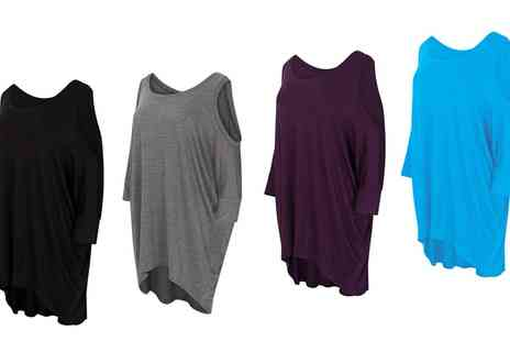 Groupon Goods Global GmbH - Oversized Cut Out Batwing Top in Choice of Colour - Save 0%