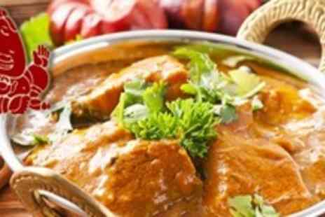 4550 Miles From Delhi - Two Course Indian Meal For Two With Rice and Naan - Save 60%