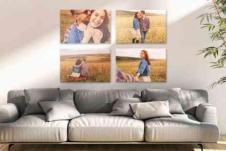 UK Photo Gifts - One, Two, Three or Four Personalised A2 Canvases - Save 0%