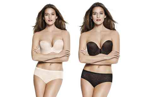 Groupon Goods Global GmbH - Wonderbra Ultimate Strapless Lace Bra in Choice of Colour and Size - Save 0%