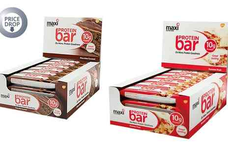 Groupon Goods Global GmbH - 36 MaxiNutrition Chocolate Caramel or Summer Fruit Protein Bars - Save 0%