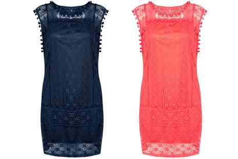Groupon Goods Global GmbH - Sleeveless Lace Summer Dress in Coral or Navy - Save 0%