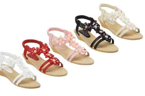 Groupon Goods Global GmbH - Womens Jewelled Sandals by London Shoe Co in Choice of Colour - Save 0%