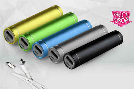eOutlet - 2600mAh PowerBank portable USB charger choose from four colours - Save 80%