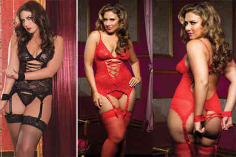 EF Mall - Lace lingerie set choose black or red - Save 76%