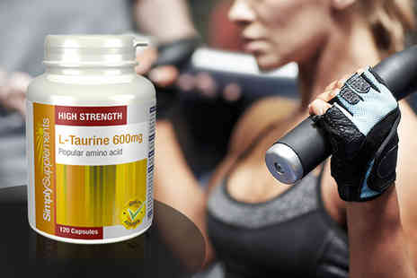 Simply Supplements - Four month supply of L Taurine workout supplement - Save 47%