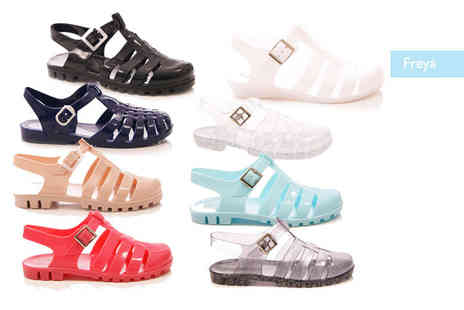 MY UL - Pair of jelly sandals choose from two styles in a range of colours - Save 62%
