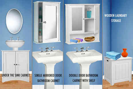 E4Emporium - Mirror cabinet or under sink cabinet or laundry box - Save 78%