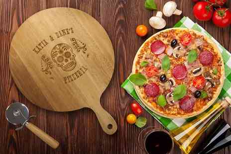 The Gift Mill - Personalised pizza paddle and cutter - Save 60%