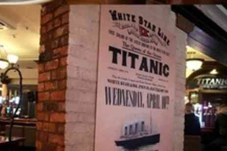 Titanic Pub and Kitchen - Sirloin Steak Dinner For Two - Save 57%