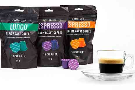 Groupon Goods Global GmbH - 100 Cafe Luxe Nespresso Compatible Capsules With Free Delivery - Save 0%