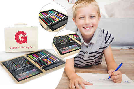 Treat Gifts - 63 piece personalised childrens colouring in set - Save 63%