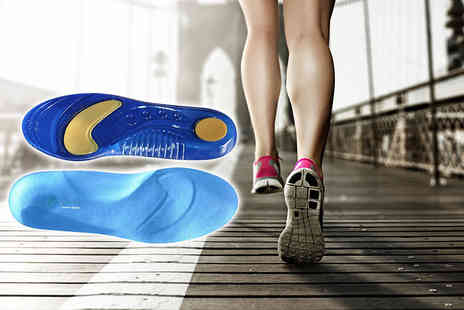 Sole Control - Pair of sport gel insoles - Save 82%