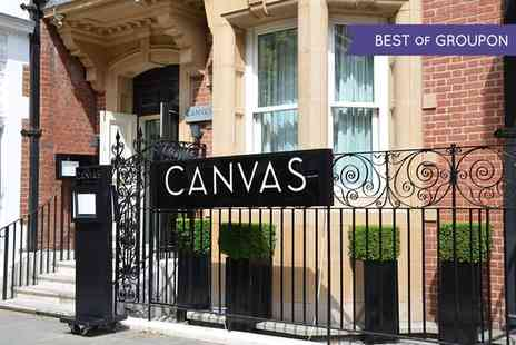 Canvas Chelsea - Three Course Dinner with Prosecco - Save 44%