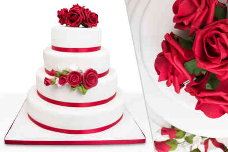 Precise Cakes - Three tier bespoke wedding cake Plus Free Delivery - Save 53%