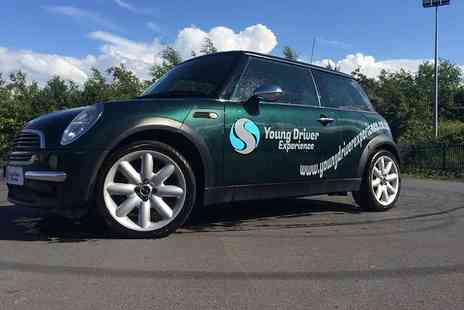 Stunt Drive Experience - Young driver experience in a BMW Mini for up to three - Save 47%