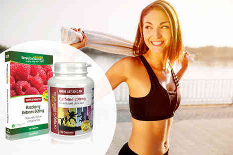 Simply Supplements - Two month supply of raspberry ketones and caffeine capsules - Save 36%