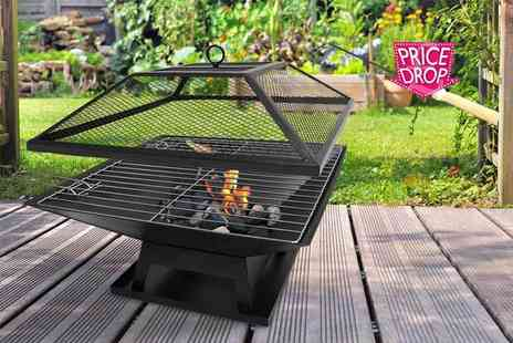 Sashtime - Outdoor garden fire pit with BBQ grill - Save 77%