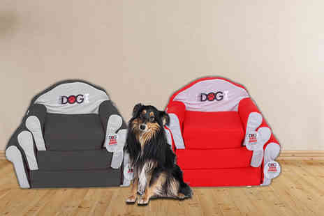 Dream Price Direct - Medium or large dog sofa bed choose black or red - Save 45%
