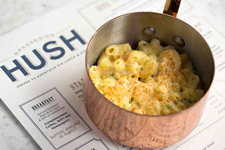 Hush Brasseries - Three Course Meal and Cocktail for Two - Save 0%