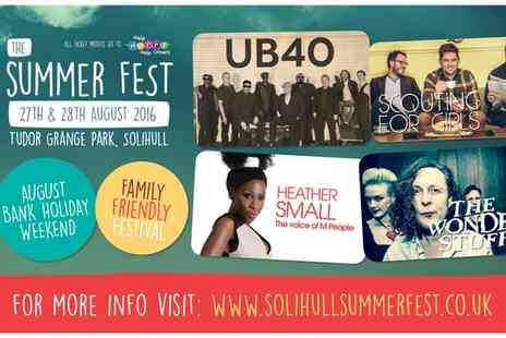 The Solihull Summer Fest - Ticket to The Solihull Summer Fest on 27 and 28 August - Save 44%