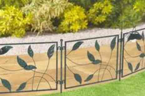 Good Ideas - Decorative iron fence incorporating LED solar lights - Save 50%