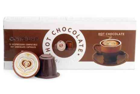 Groupon Goods Global GmbH - 120 Caffe Luxe Hot Chocolate Nespresso Compatible Capsules With Free Delivery - Save 29%