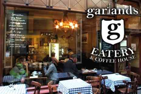 Garlands Eatery and Coffee House - £8.10 Welsh Breakfast Plus Hot Drink For Two - Save 60%