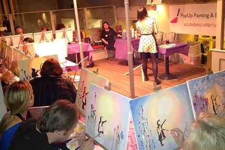 PopUp Painting and Events - One Themed Social Painting Ticket with PopUp Painting - Save 37%