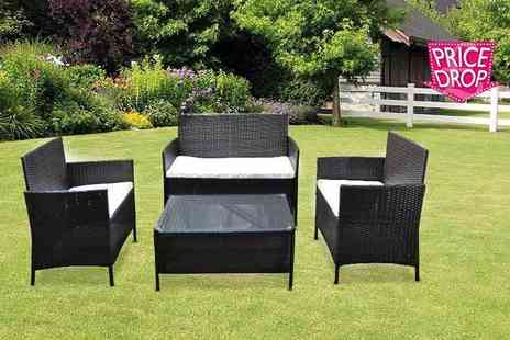 direct2publik - Four piece rattan garden sofa set - Save 73%