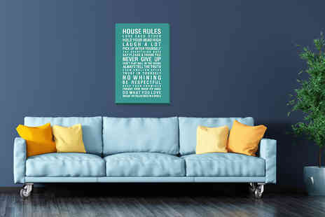 Deco Matters - House rules A4 canvas - Save 87%