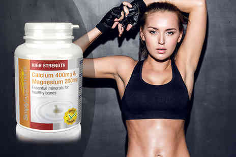 Simply Supplements - Six month supply of calcium & magnesium - Save 50%