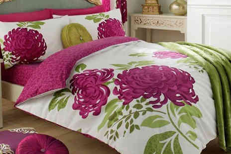 luxury bed and warehouse - Flower Print Duvet Set - Save 75%