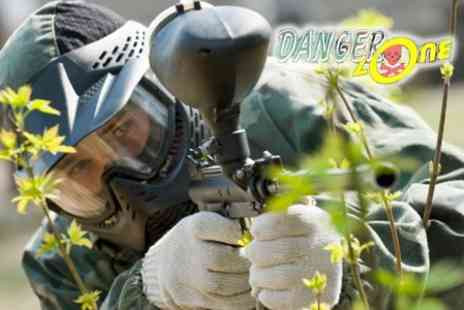 The Dangerzone - £12 Paintball Experience For Ten With Lunch - Save 92%