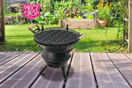 Funky Buys - Cast iron adjustable BBQ grill - Save 53%