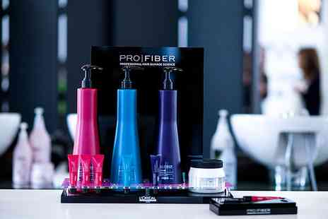 The Beauty Lounge - Haircut & Blow Dry with PROFIBER Conditioning Treatment with Top  Stylist - Save 34%