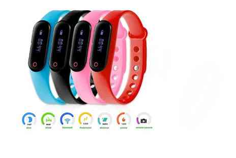 Mobi Trends - Bluetooth fitness tracker choose from four colours - Save 62%