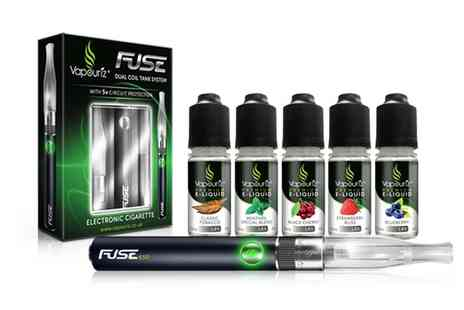 Vapouriz - Vapouriz Fuse E Cigarette Starter Kit With 5x E Liquids With Free Delivery - Save 0%