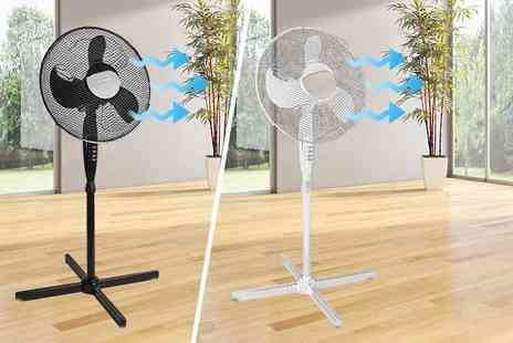 Sashtime - Oscillating 16 inch standing fan - Save 50%