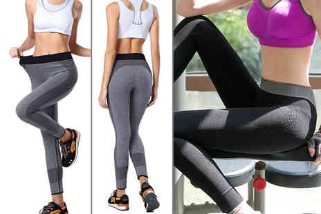 Who Runs the World - Pair of stretchy workout leggings with spandex choose from grey or black - Save 80%