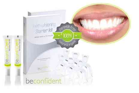 beconfiDent - Two organic peroxide free teeth whitening starter kits - Save 83%