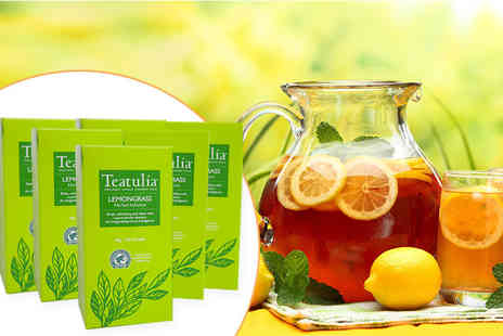 World Foods Brand Management - Six boxes of Teatulia lemongrass tea - Save 67%