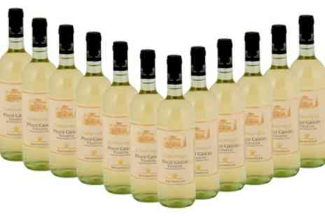 Wine Online - 12 Bottles of Pinot Grigio Wine With Free Delivery - Save 34%