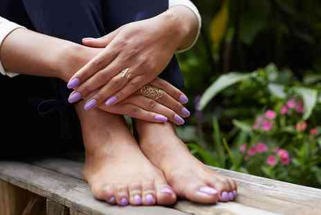 Room Nine - Shellac Manicure, Pedicure or Both - Save 50%