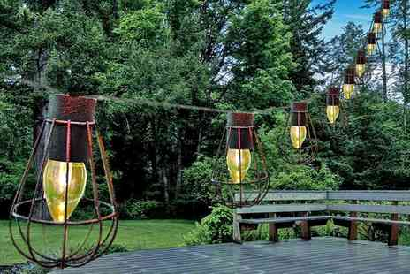 Groupon Goods Global GmbH - One or Two Sets of Ten Solar Cage Lantern String Lights - Save 0%