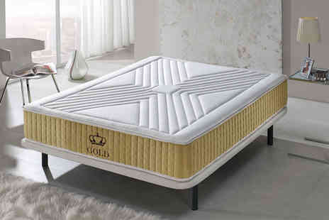 Mr Lazys - Single or double luxury memory foam gold threaded mattress - Save 90%