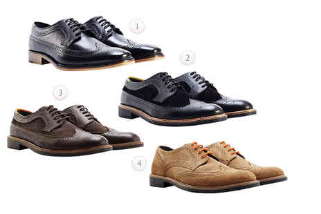 Shoeprimo - Pair of mens brogues choose from seven fantastic styles - Save 82%