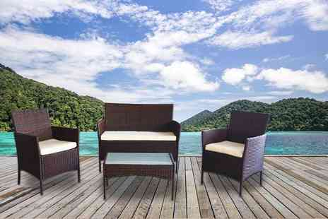 Ricomex - Four piece rattan garden furniture set - Save 79%