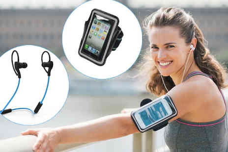 The Home & Gadget Store - Sports Armband and Option For In Ear Bluetooth Headphones - Save 0%