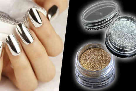 Bonicaro Design - Magic Mirror Nail Powder  Choice Gold or Silver - Save 80%